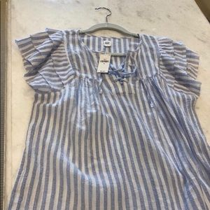 GAP Stripe Ruffle Top